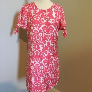 Lilly Pulitzer pink tie sleeve dress